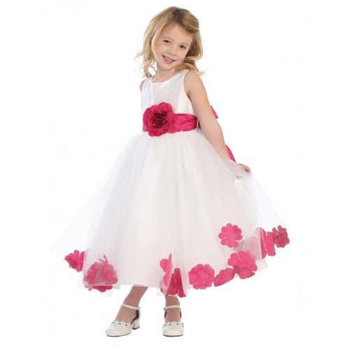 Blossom Taffeta & Tulle w/ Detachable Sash, Flower, & Petals http://www.lynallan.com/girls-formal/girls-formal-all/03R1-070#.U7YwjCgvCSo