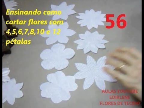 AULA 56: COMO CORTAR FLORES COM 4,5,6,7,8,10 E12 PÉTALAS - YouTube
