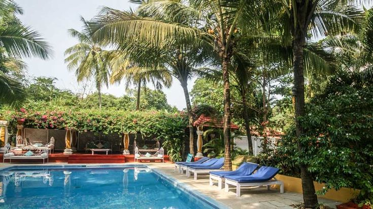 Anjuna's best pool, with diwans, pool table, bar and restaurant alongside. #Anjuna