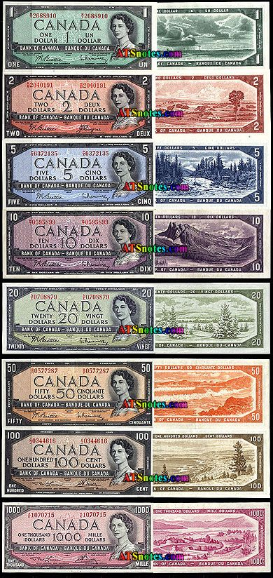 Canada banknotes - Canada paper money catalog and Canadian currency history