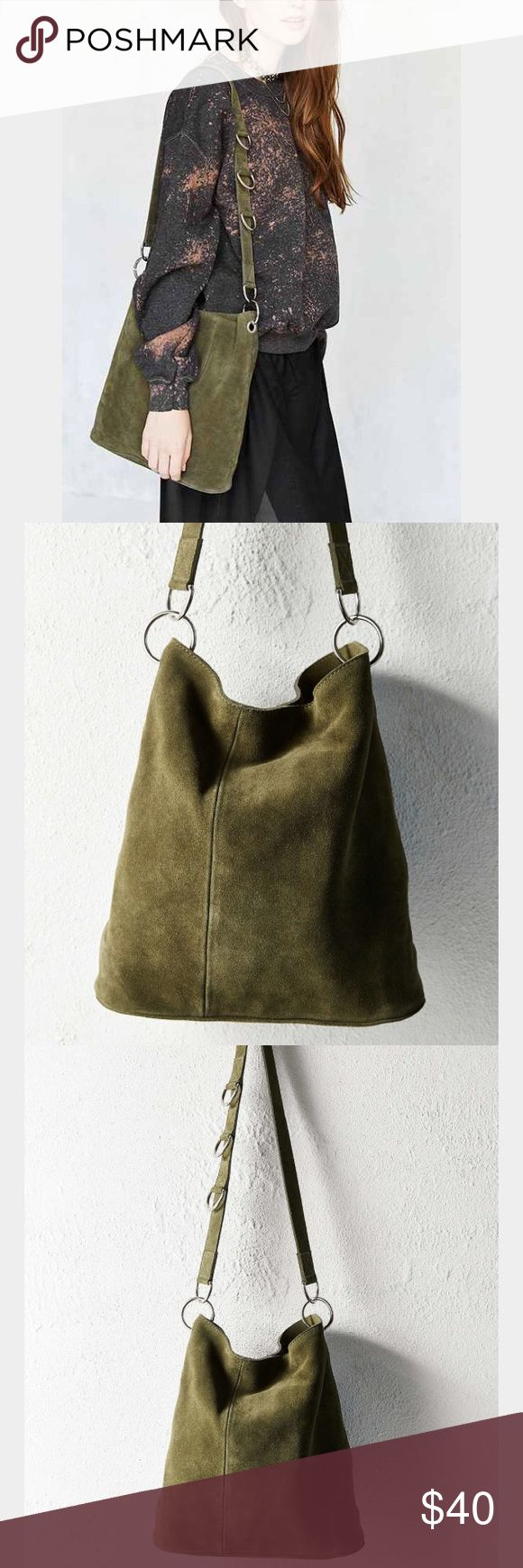 New! UO Suede Tote Bag Green tote bag from urban outfitters. NWT! Real suede Urban Outfitters Bags