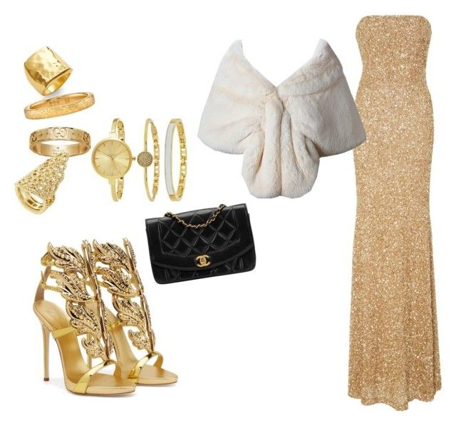 """""""Evening"""" by madisonkiss on Polyvore featuring Giuseppe Zanotti, Argento Vivo, Gucci, Chanel, SemSem, SO & CO and BCBGMAXAZRIA"""