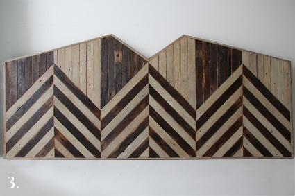 The Patterned Headboard Three {hand built from reclaimed lath salvaged from Brooklyn buildings} by Brooklyn to West