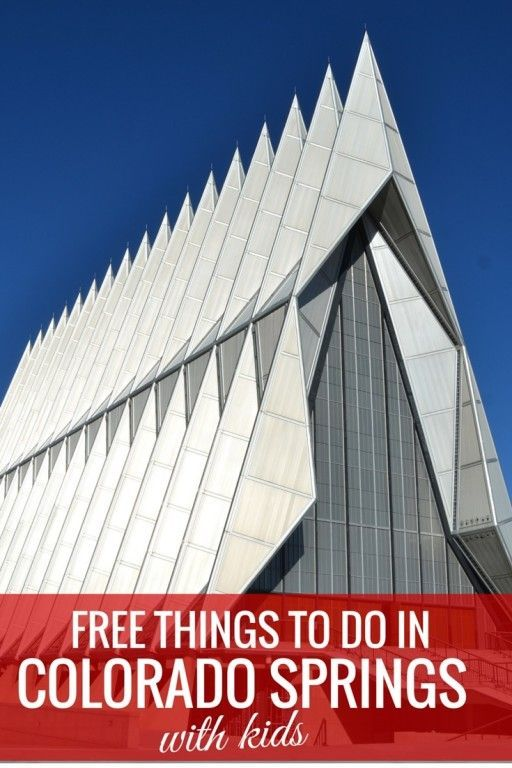 The Air Force Academy Chapel is one of 5 Free Things to do in Colorado Springs with Kids - The World Is A Book