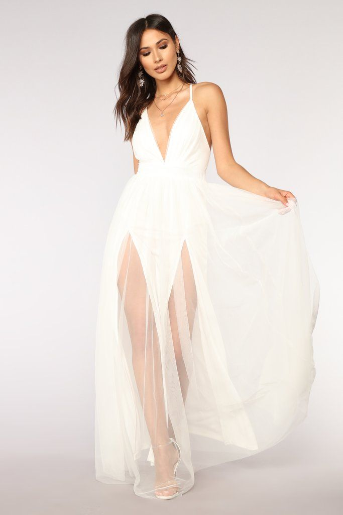 bd5baf2d0dfc On The Runway Maxi Dress - White in 2019