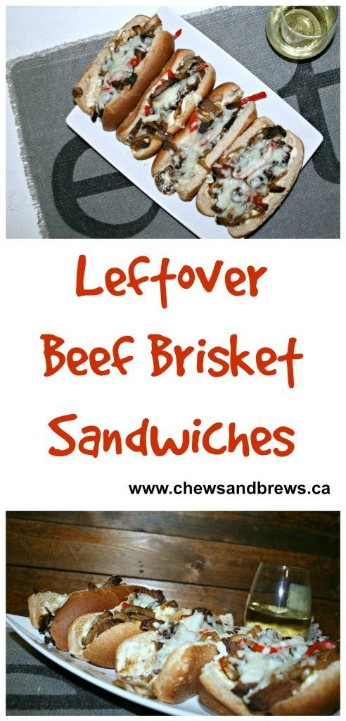 Inspired by Philly Cheesesteak sandwich - Beef Brisket Sandwich ~ www.chewsandbrews.ca