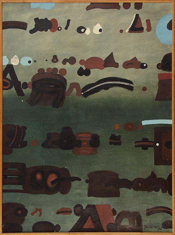 Jan Tarasin | <i>SITUATION, 1985</i> | oil, canvas | 100 x 75 cm