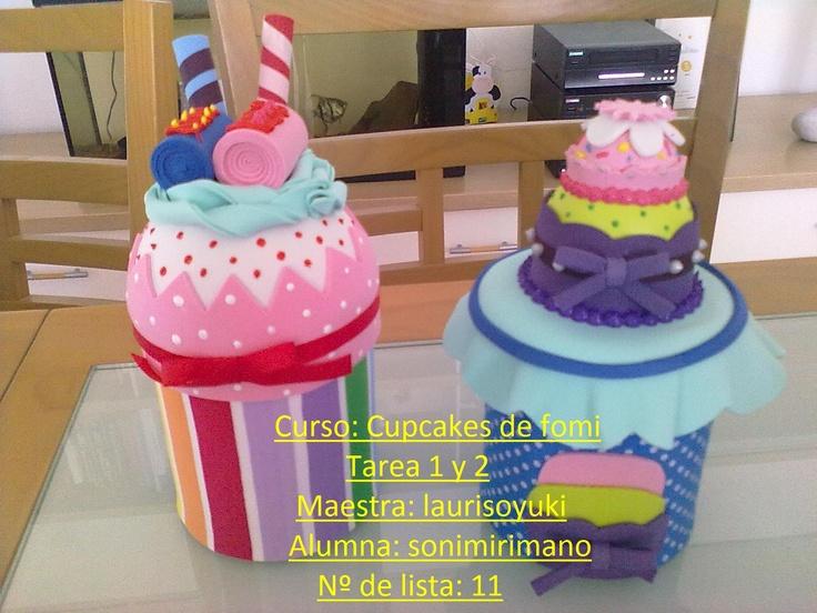 Mis manualidades: Cupcakes en fomi