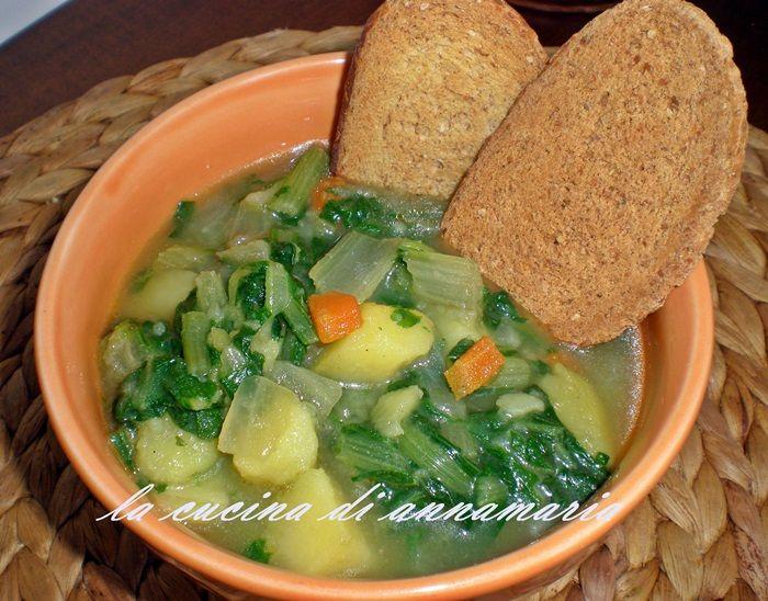 minestra di patate e bietole