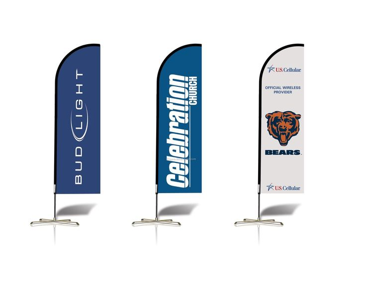 Another example of a free standing banner. This one is called an Flexbanner, used as an indoor/outdoor-advertising tool.