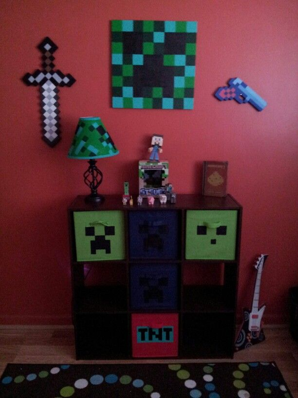 Minecraft themed kids bedroom