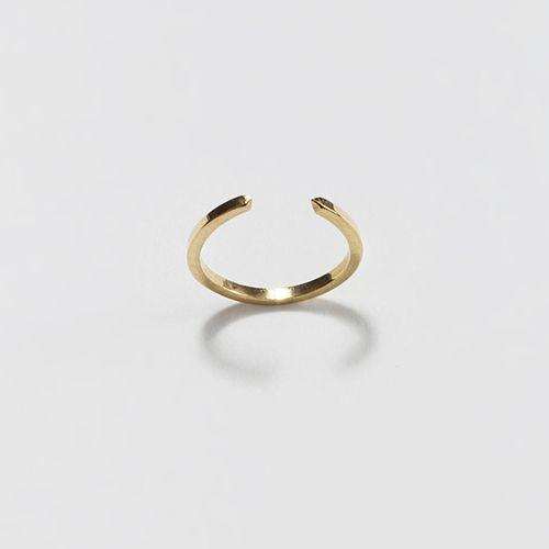 Jessie Harris Gold Slim Open Point Ring