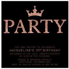 Best St Birthday Invitations Ideas On Pinterest St - 21st birthday invitations ideas templates