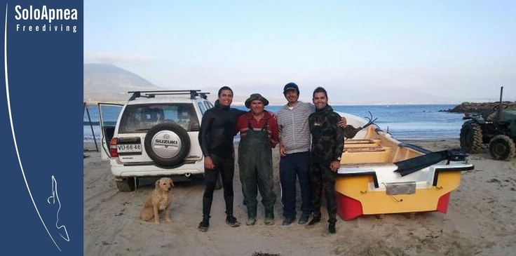 Prueba de Sled Apneaman Club SoloApnea-Freediving Chile.