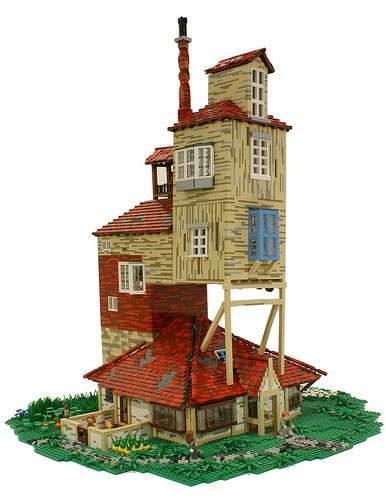 The Burrow, Residence of the Weasley's from the Harry Potter Series - (I love the plank coloring)