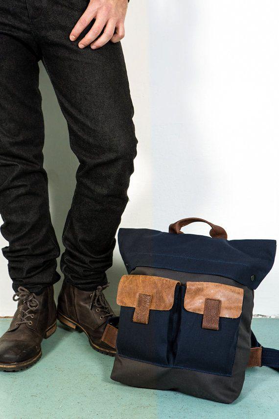 Men's Backpack laptop bag  Men Backpack bag Spring by Gazur