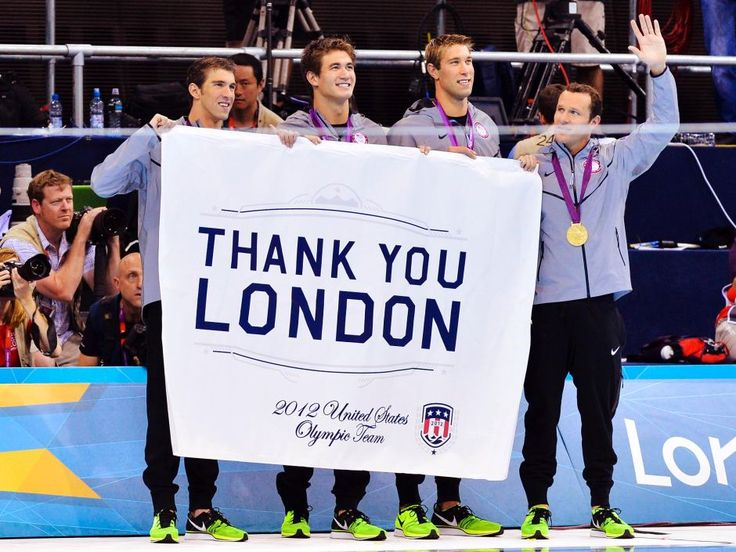 Michael Phelps, Nathan Adrian, Matthew Grevers and Brendan Hansen - Gold Medal 4x100 Medley RelayCities London, London 2012, 2012 Olympics, Medley Relay, Michael Phelps, Gold Medal, Nathan Adrian, Olympics 2012, Brendan Hansen