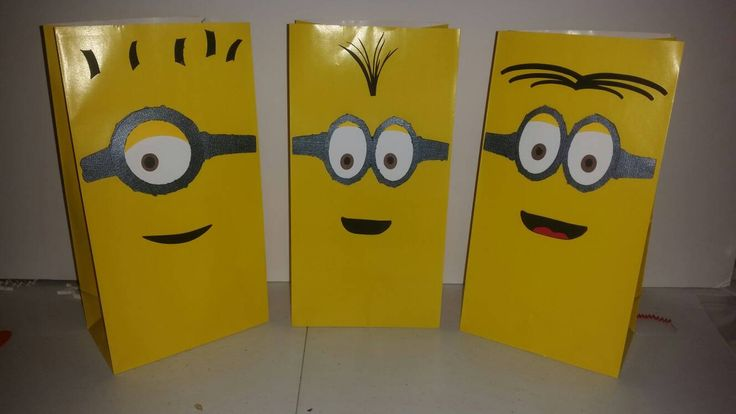 Minion Birthday! Party Bags. Goodie Bags. Favor bags.Minion Party Decorations. by VannessasCreations on Etsy