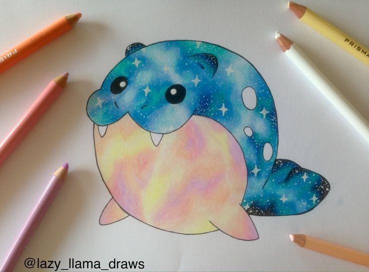Drawing galaxy  Pokémon Spheal