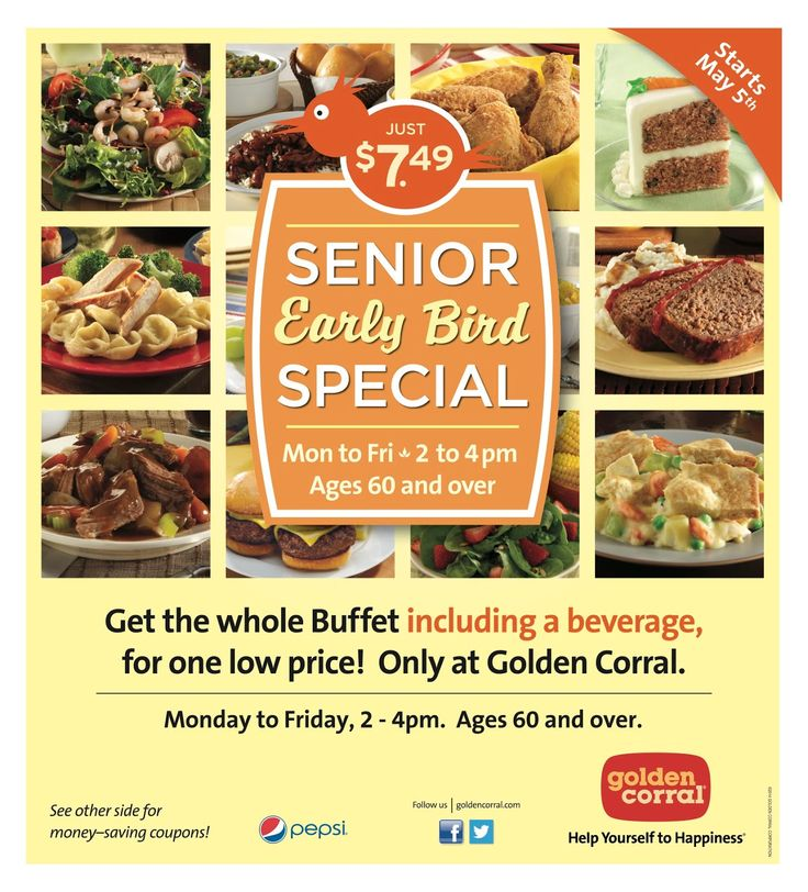 Golden Corral Senior Early Bird Discount