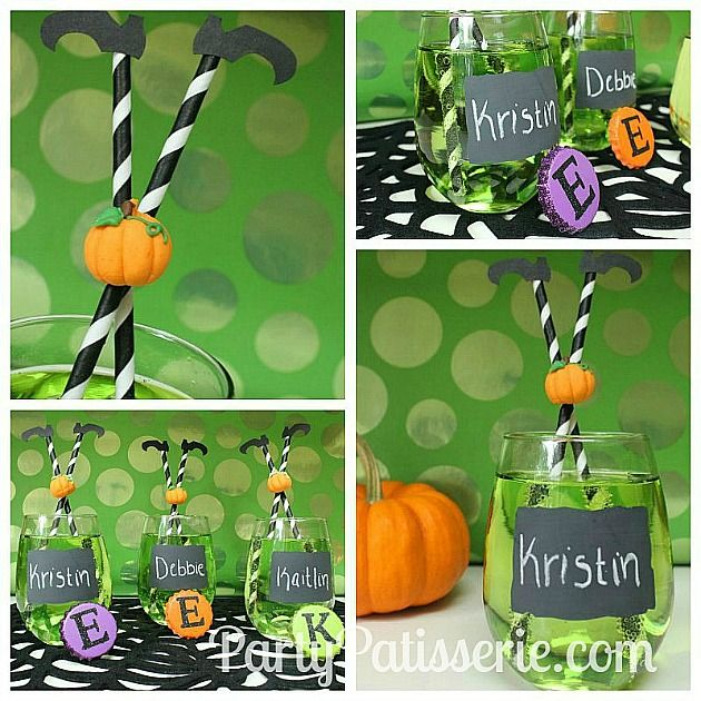 A fun DIY Halloween party drink - perfect for kids and adults. Halloween Sour Apple Witches Brew Cocktail Recipe