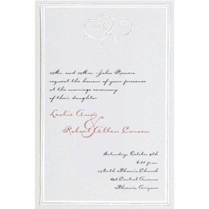 Gartner Studios Wedding Invitations Cards Platinum Hearts 50 Count 61043
