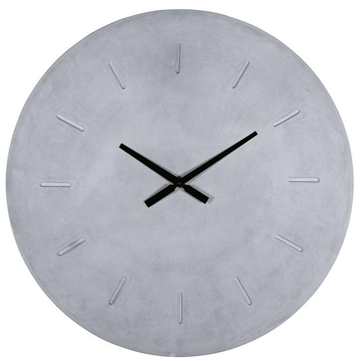 Horloge effet béton D.80cm EVORA
