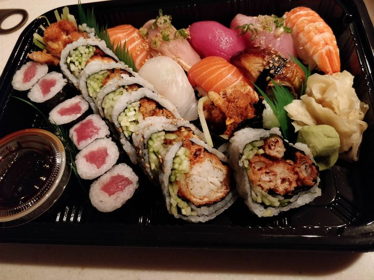 Take out sushi night