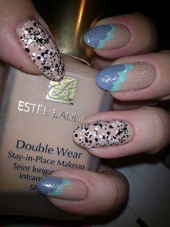 Confettis nail art