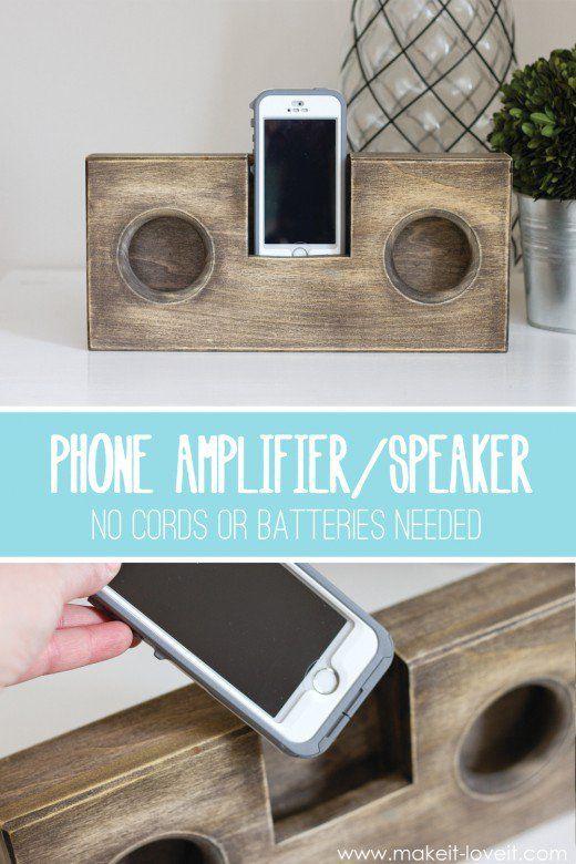 Wooden Phone Amplifier/Speaker (no cord or batteries needed)