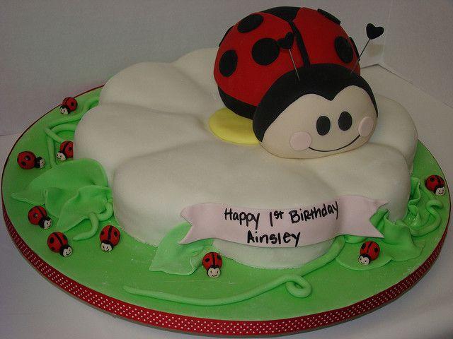 Ladybug Cakes For 1st Birthdays | ladybug birthday cake this 1st birthday cake was a ladybug made of ...