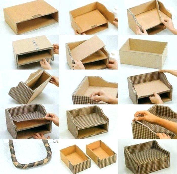 Home Decor With Cardboard Boxes Cardboard Box Crafts Diy