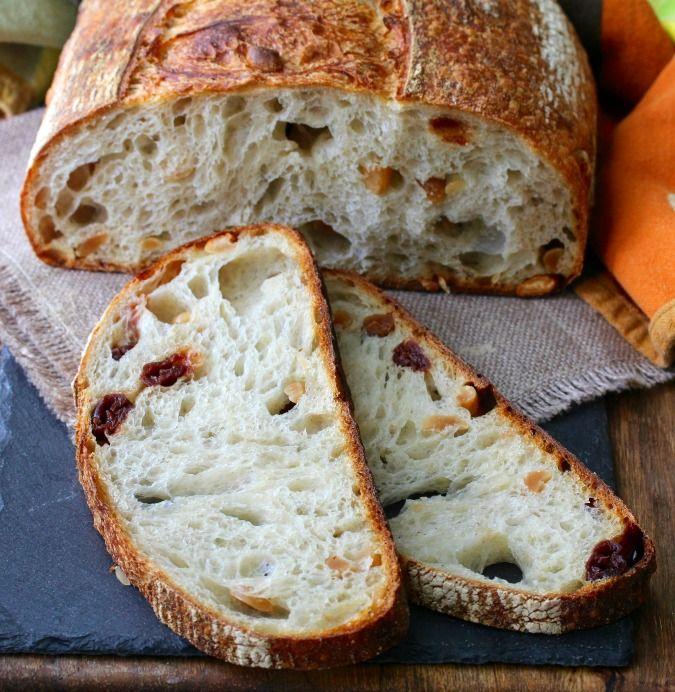 Sour Cherry, Peanut, and Barley Sourdough Bread
