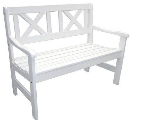 Super Gartenbank 2-Sitzer, weiß aus Holz Natural Ideas GmbH RM06
