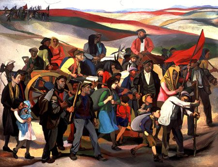 Renato Guttuso 'Occupation of uncultivated lands in Sicily' (1950)