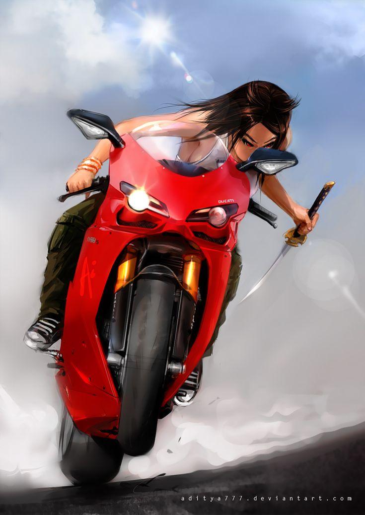 Digital Art By Aditya777 On Deviantart.com #DucatiArt