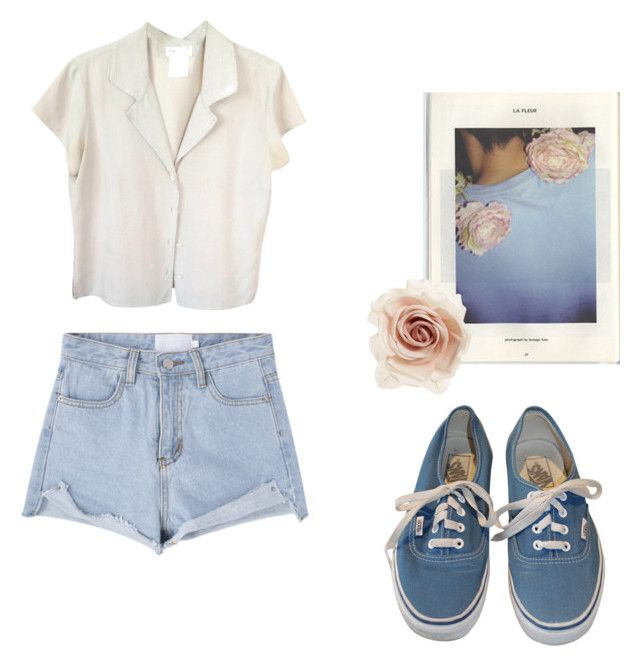 """""""Untitled #67"""" by vivi-g6 on Polyvore featuring Vans, agnès b., Cara, vans, shorts and rose"""