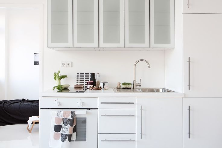 White frosted glass for cabinet