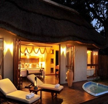 This exclusive lodge in the world-renowned Kruger National Park has just 12 private suites, each with their own private Jacuzzi or plunge pool. Each suite has a large king bed and romantic en-suite bathroom with magnificent views of the wilderness beyond