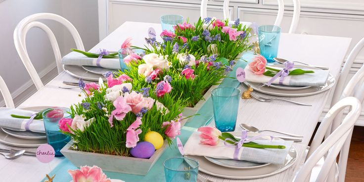 Want to serve a holiday feast with style? Try these pretty Easter table decorations.
