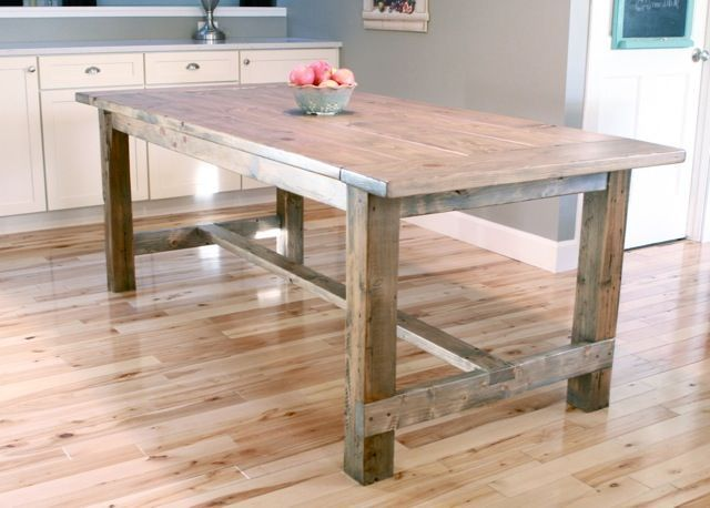 Build Your Own Farmhouse Table With These Free Easy to Follow Plans: Ana White's Free Farmhouse Table Plan