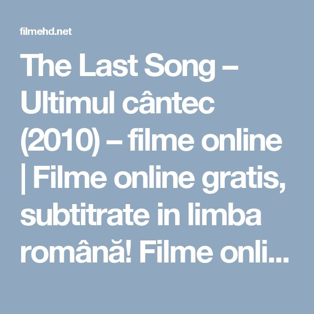 the last song full movie online free