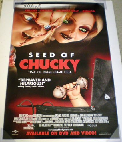 Seed of Chucky Movie Poster 27x40 Used Jason Flemyng, Steve West, Redman, Billy Boyd, Jennifer Tilly, Hannah Spearritt, John Waters, Nicholas Rowe, Brad Dourif, Debbie Lee Carrington, Tony Gardner, Martha Stewart