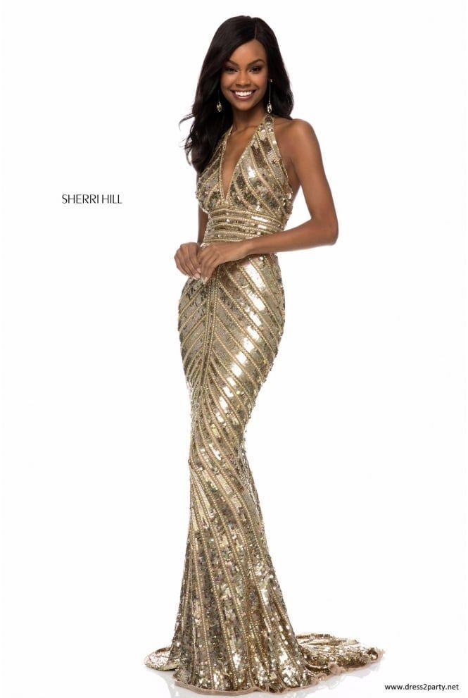 862a83ca Pin de BeAngel GC en VESTIDOS | Sherri hill prom dresses, Prom dresses y  Halter top prom dresses
