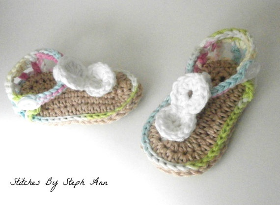 baby girl sandals baby girl clothes cute by stitchesbystephann, $20.00