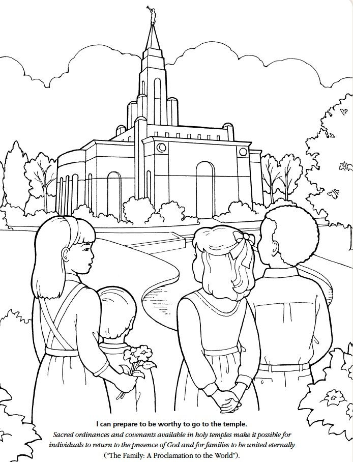 Lds Temple Coloring Pages Sketch Page