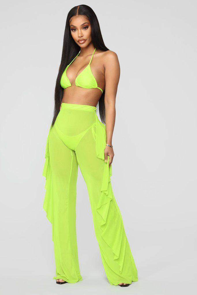 88a5e2df0a Sunshine See Through Cover Up Pant - Lime in 2019 | Fashion Nova ...