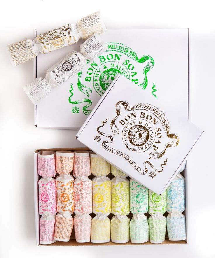Bon Bon Soap - Gold gift box with 4 different fragranced Bon Bons including one in gold foil