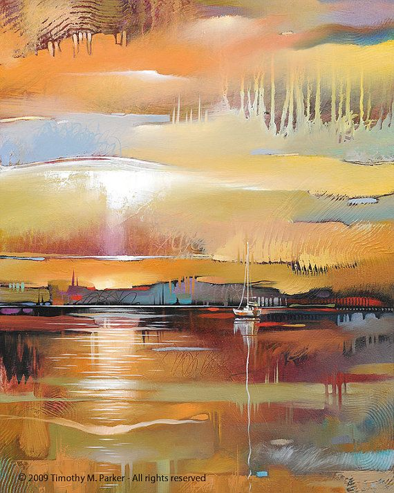 Abstract Landscape Art  Contemporary Landscape and by BirdArt                                                                                                                                                      More