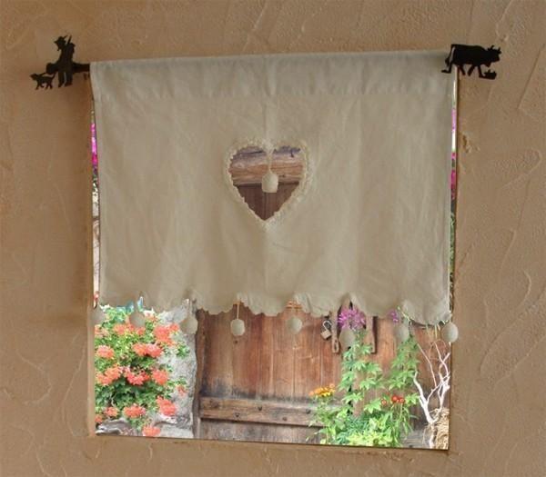 Les 120 meilleures images propos de rideaux lin sur pinterest rideaux en lin embrasses de - Rideau campagnard ...